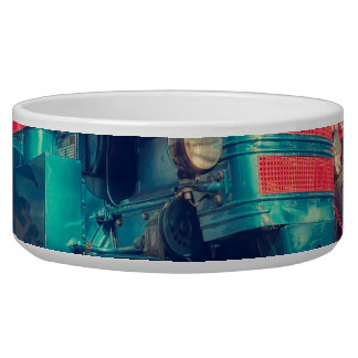 Cool Blue Red Vintage Tractor Bowl