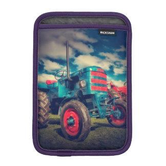 Cool Blue Red Vintage Tractor iPad Mini Sleeve