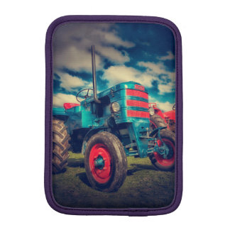 Cool Blue Red Vintage Tractor iPad Mini Sleeves