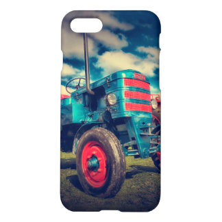 Cool Blue Red Vintage Tractor iPhone 8/7 Case
