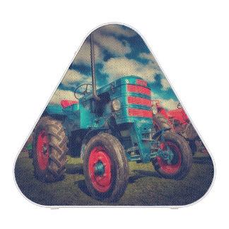 Cool Blue Red Vintage Tractor Bluetooth Speaker