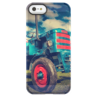 Cool Blue Red Vintage Tractor Permafrost iPhone SE/5/5s Case
