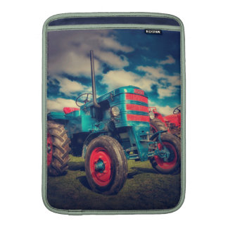 Cool Blue Red Vintage Tractor Sleeve For MacBook Air