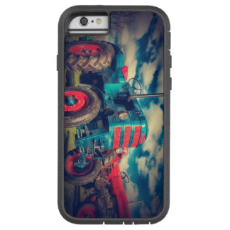 Cool Blue Red Vintage Tractor Tough Xtreme iPhone 6 Case