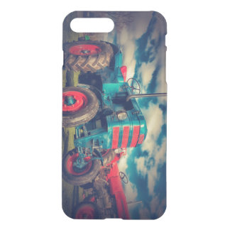 Cool Blue Red Vintage Tractor iPhone 8 Plus/7 Plus Case