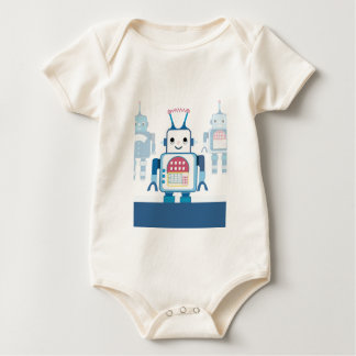 Cool Blue Robot Gifts Novelties Baby Bodysuit