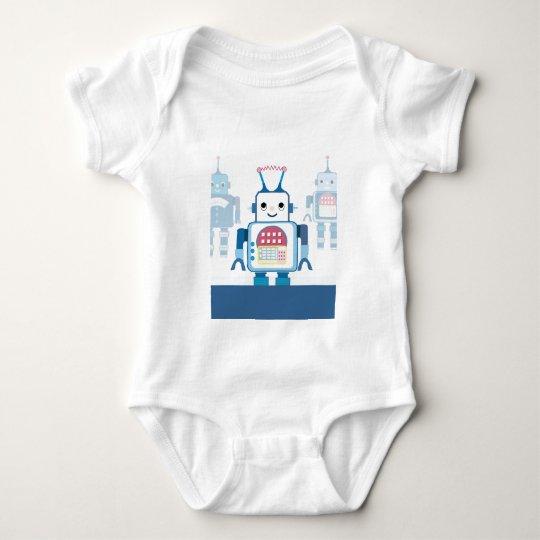 Cool Blue Robot Gifts Novelties Baby Bodysuit