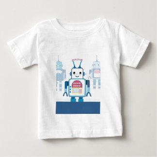 Cool Blue Robot Gifts Novelties Baby T-Shirt