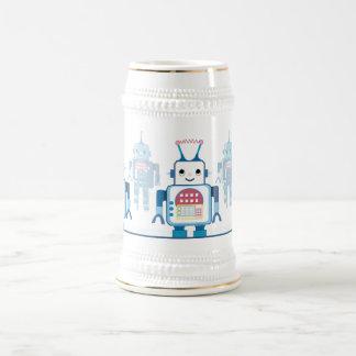 Cool Blue Robot Gifts Novelties Beer Stein