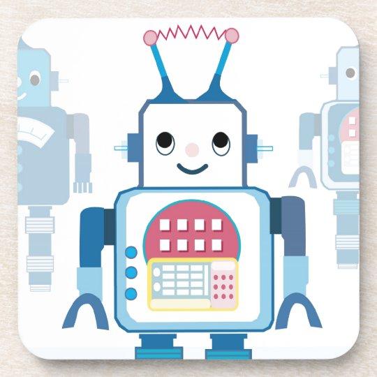 Cool Blue Robot Gifts Novelties Coaster