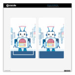 Cool Blue Robot Gifts Novelties Kindle Fire Decal