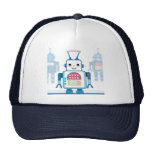 Cool Blue Robot Gifts Novelties Mesh Hat