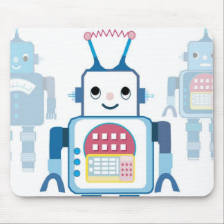 Cool Blue Robot Gifts Novelties Mouse Pad