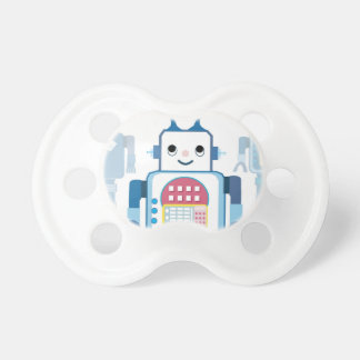 Cool Blue Robot Gifts Novelties Pacifier