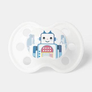 Cool Blue Robot Gifts Novelties Pacifiers