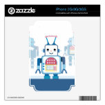 Cool Blue Robot Gifts Novelties Skins For iPhone 3G