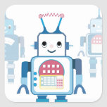 Cool Blue Robot Gifts Novelties Square Sticker