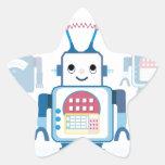 Cool Blue Robot Gifts Novelties Star Sticker
