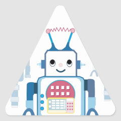Cool Blue Robot Gifts Novelties Sticker