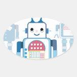 Cool Blue Robot Gifts Novelties Stickers
