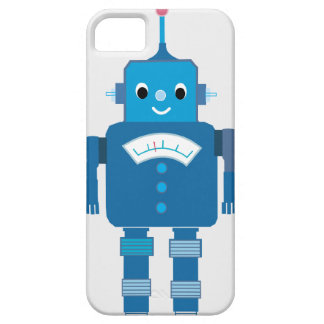 Cool Blue Robots iPhone 5 Case Cover