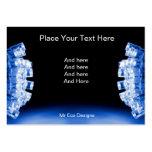 Cool blue side lights business card