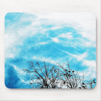 Cool Blue Sky Mouse Mat
