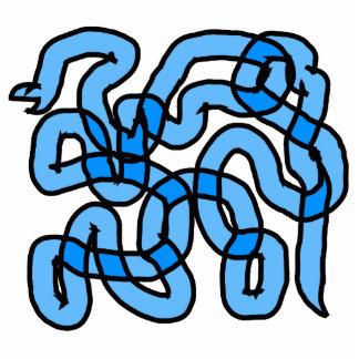 Cool Blue Snake Design. Cutout