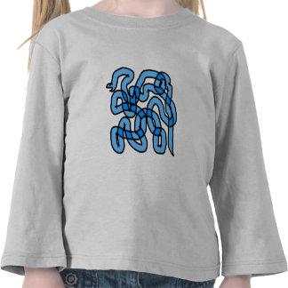 Cool Blue Snake Design. T-shirt