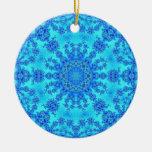 Cool Blue Snowflake Christmas Tree Ornaments