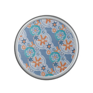 Cool Blue Snowflakes Winter Christmas Holiday Snow Speaker