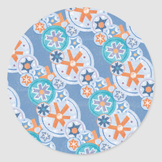 Cool Blue Snowflakes Winter Christmas Holiday Snow Sticker