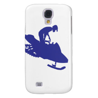 Cool Blue Snowmobiler Samsung Galaxy S4 Cases