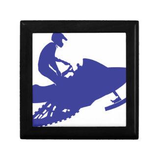 Cool Blue Snowmobiler Gift Box