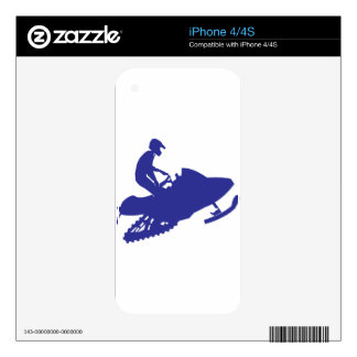 Cool Blue Snowmobiler Skins For iPhone 4