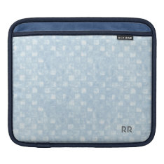 Cool Blue Squares Ipad Sleeve at Zazzle