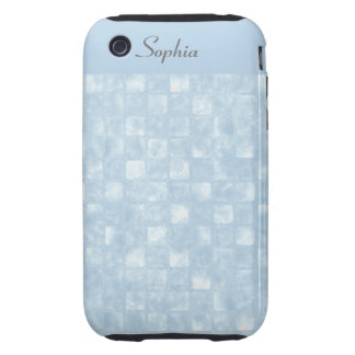 Cool Blue Squares iPhone 3G 3GS Tough Tough iPhone 3 Covers