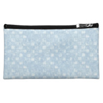 Cool Blue Squares Medium Cosmetic Bag at Zazzle