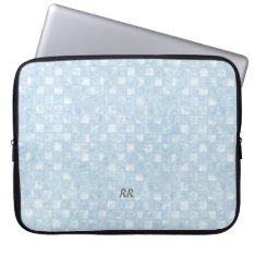 Cool Blue Squares Neoprene Laptop 15