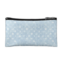 Cool Blue Squares Small Cosmetic Bag at Zazzle