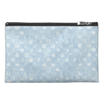 Cool Blue Squares Travel Accessory Bag at Zazzle