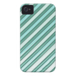 Cool Blue Stripes iPhone 4 Cases