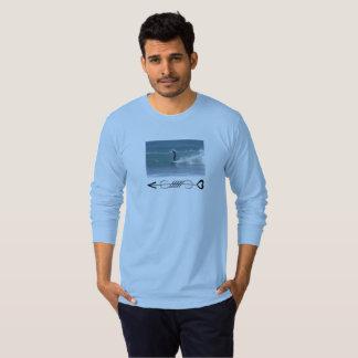 Cool Blue Surfer Wave Tee for men