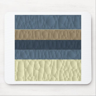 Cool Blue Taupe Color Pallet Quilted Mouse Pad