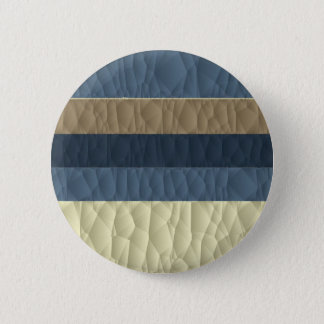 Cool Blue Taupe Color Pallet Quilted Pinback Button