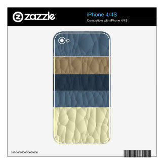 Cool Blue Taupe Color Pallet Quilted Skins For iPhone 4S