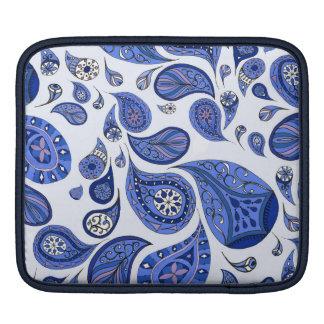 Cool Blue Teardrops iPad Case