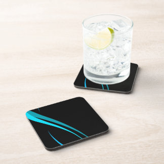 Cool Blue Tribal Curves Layout Drink Coaster