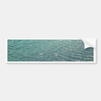 Cool blue water car bumper sticker