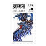 Cool Blue Water Drake tattoo  stamp